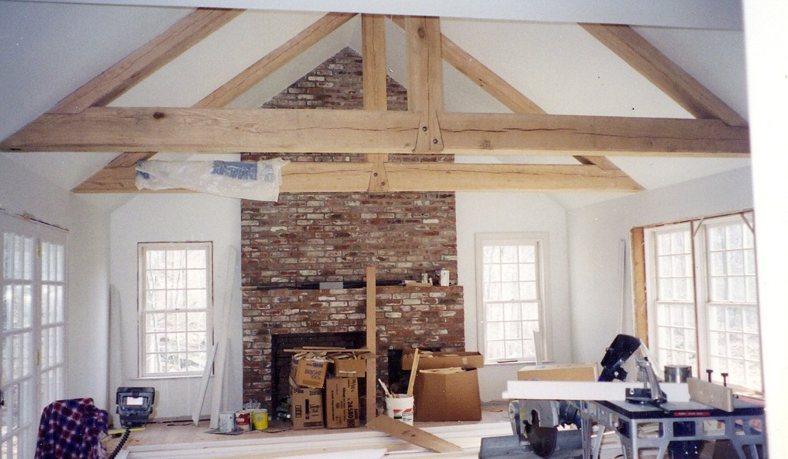 Home Renovation Great Room Addition With Wooden Beams